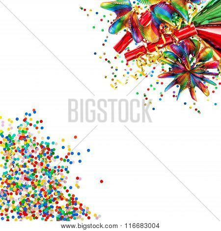 Garlands, Streamer, Cracker, Confetti. Decoration