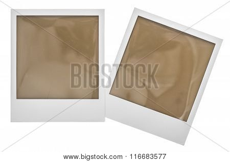 Instant Polaroid Photo Frames. Clipping Path