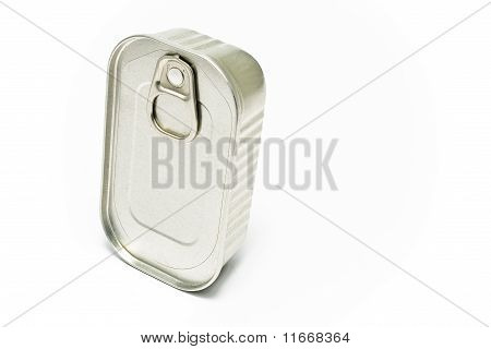 Sardines Tin Can Isolated On White