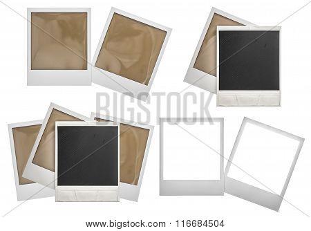Photo Frames Polaroid Isolated On White