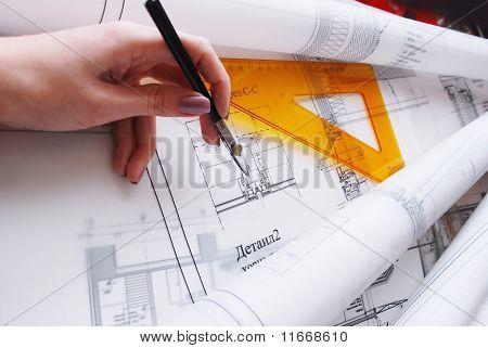 Architectural desk