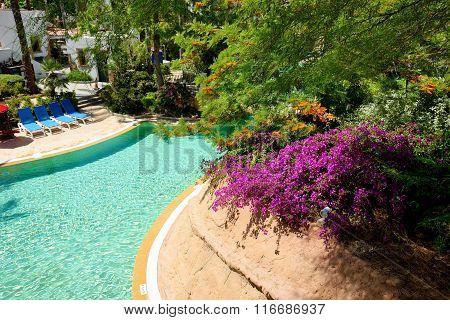 Swimming Pool At Luxury Hotel, Costa Dorada, Spain