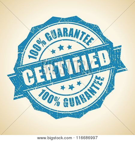 Certified guarantee stamp