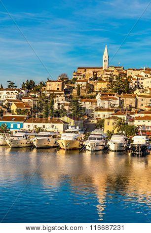 Vrsar Port And Village During Sunset-croatia