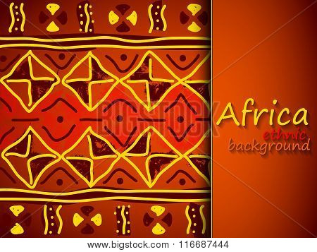 African Ethnic Vector Background.tribal Pattern