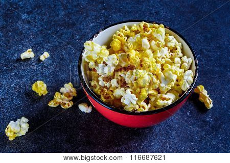 Bowl With Salt Popcorn