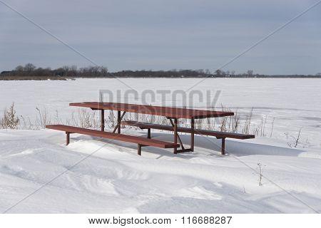 Picnic Table Snowdrift