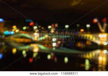 Defocused Cityscape Of Lyon, France