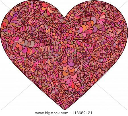 Heart made of doodle elements