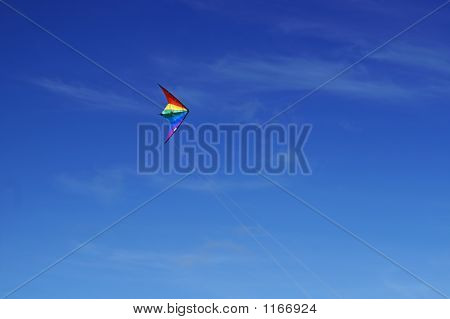 A Kite Flying In Md Air With Nice Blue Sky