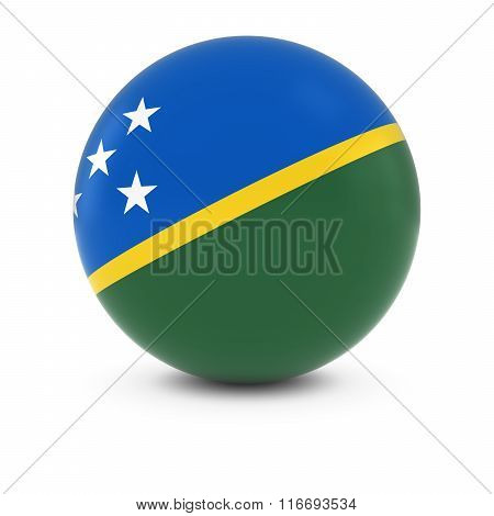 Solomon Islands Flag Ball - Flag Of The Solomon Islands On Isolated Sphere