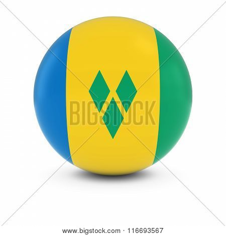 Saint Vincent And The Grenadines Flag Ball - Flag Of Saint Vincent And The Grenadines On Isolated Sp