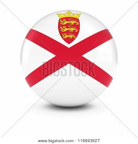 Jersey Flag Ball - Flag Of Jersey On Isolated Sphere