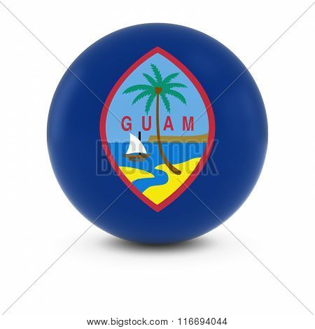Guamanian Flag Ball - Flag Of Guam On Isolated Sphere