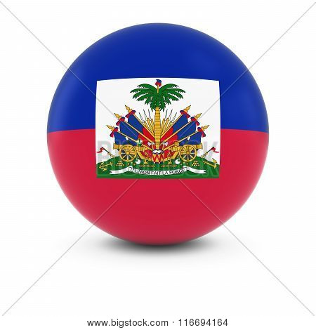 Haitian Flag Ball - Flag Of Haiti On Isolated Sphere