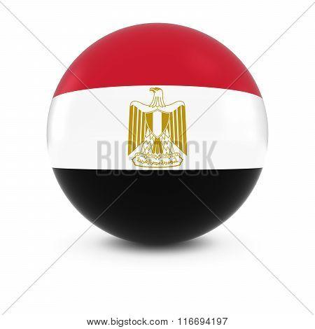 Egyptian Flag Ball - Flag Of Egypt On Isolated Sphere