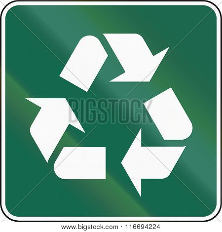 United States Mutcd Guide Road Sign - Recycling