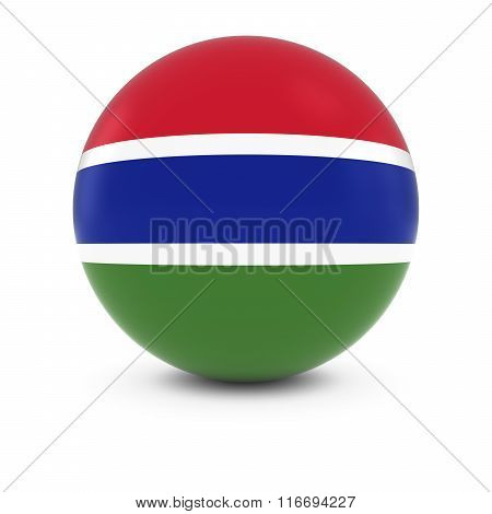 Gambian Flag Ball - Flag Of Gambia On Isolated Sphere