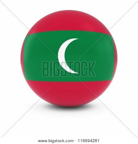 Maldivian Flag Ball - Flag Of The Maldives On Isolated Sphere