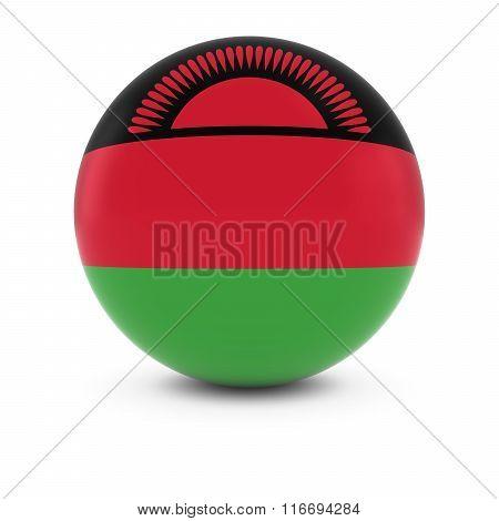 Malawian Flag Ball - Flag Of Malawi On Isolated Sphere