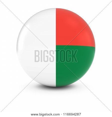 Malagasy Flag Ball - Flag Of Madagascar On Isolated Sphere