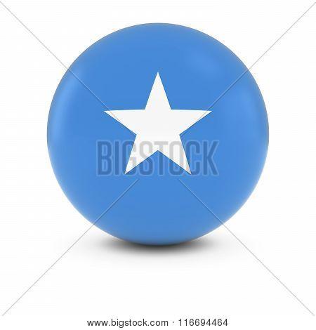 Somali Flag Ball - Flag Of Somalia On Isolated Sphere