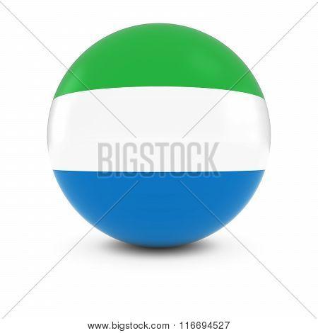 Sierra Leonean Flag Ball - Flag Of Sierra Leone On Isolated Sphere
