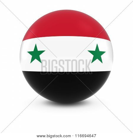 Syrian Flag Ball - Flag Of Syria On Isolated Sphere