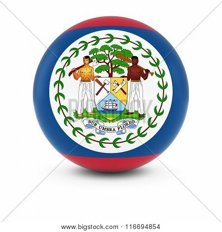 Belizean Flag Ball - Flag Of Belize On Isolated Sphere