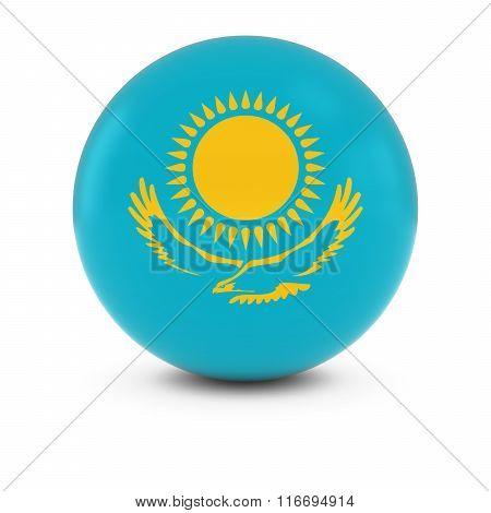 Kazakhstani Flag Ball - Flag Of Kazakhstan On Isolated Sphere