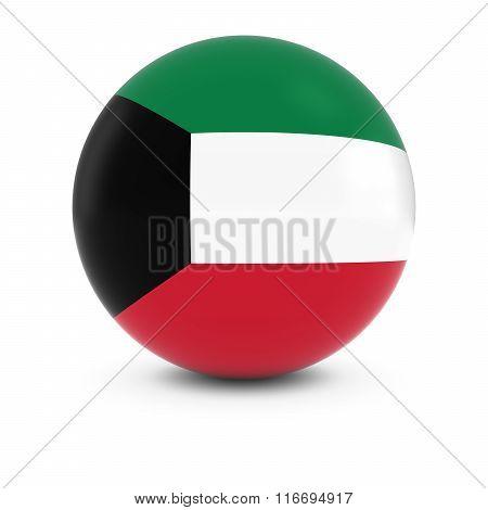 Kuwaiti Flag Ball - Flag Of Kuwait On Isolated Sphere
