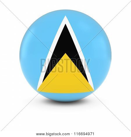 Saint Lucian Flag Ball - Flag Of Saint Lucia On Isolated Sphere
