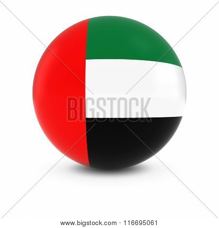Emirati Flag Ball - Flag Of The United Arab Emirates On Isolated Sphere