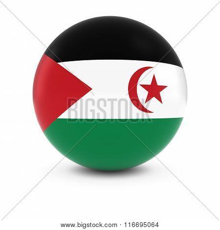 Sahrawi Flag Ball - Flag Of Western Sahara On Isolated Sphere