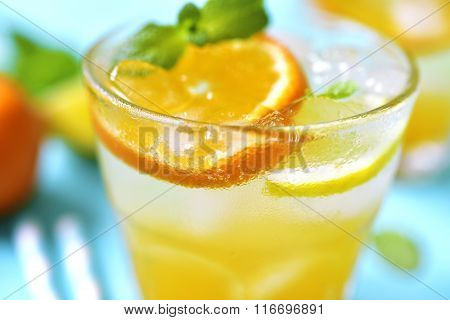 Citrus Lemonade With Mint.