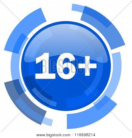adults blue glossy circle modern web icon