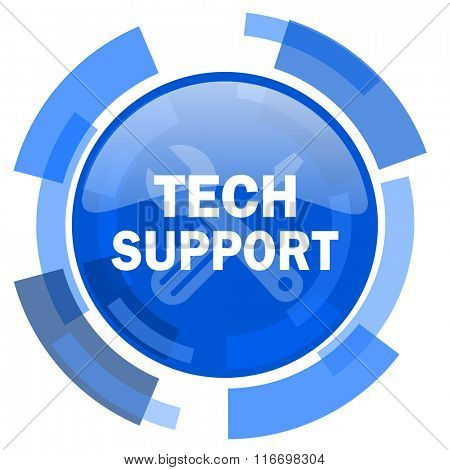 technical support blue glossy circle modern web icon