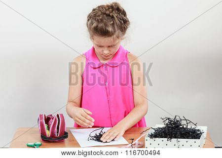 Little Girl Create Composition
