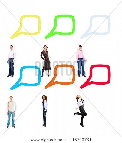 Standing and Talking Isolated Groups