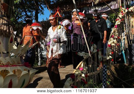 Balinese-Hindu cremation ceremony in Bali, Indonesia