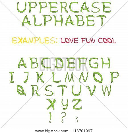 Set of letters as uppercase alphabet