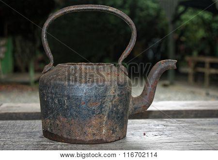 Old Steel Teapot