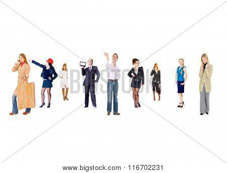 Corporate Teamwork Perspective Concept