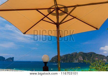 Vacation Wallpaper Under Umbrella