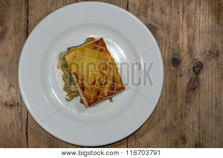 Chicken Pie With Vegetables, Seen From Above