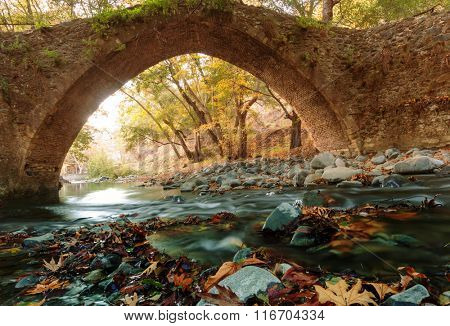 Medieval Venetian bridge in Cyprus