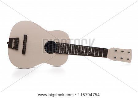 Beige Guitar Toy