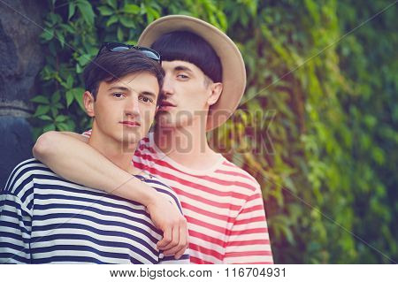 Portrait Of Young Male Couple