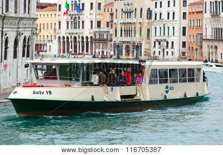 Tourists Sightseeing Of Venice