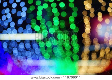 Bokeh Background Of Colorful Festive Lights